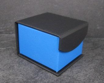 Blue Black Engagement Ring Box