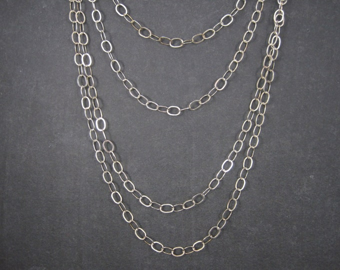 Vintage Sterling 6mm Opera Length Chain Necklace 100 Inches