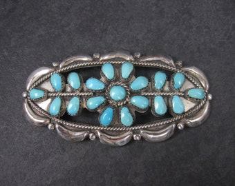 Large Vintage Turquoise Brooch Hopi Homer Vance