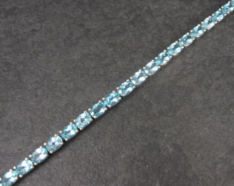 Vintage 90s Sterling December Birthstone Bracelet 7.5 Inches Something Blue Wedding Jewelry