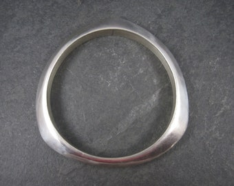 Vintage Mexican Sterling Bangle Bracelet 8 Inches