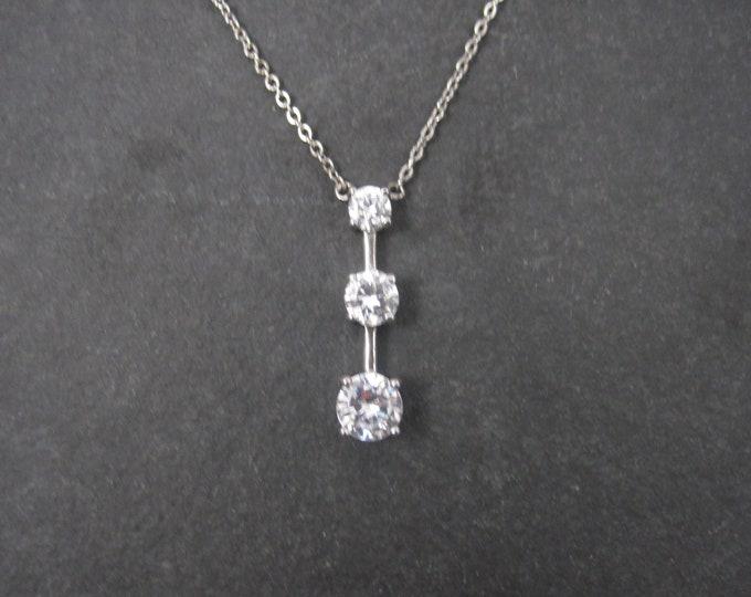 Vintage Sterling Past Present Future Necklace