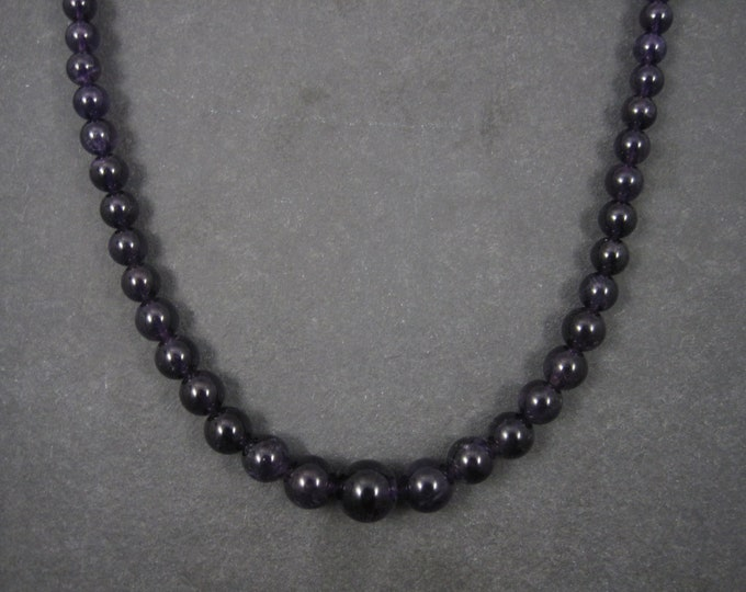 Vintage Amethyst Bead Necklace 20 Inches