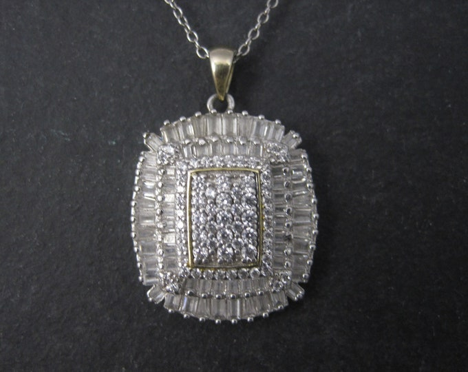 Vintage Sterling High End Cubic Zirconia Pendant