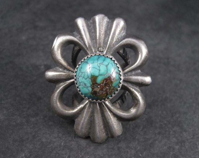 Huge Vintage Southwestern Turquoise Ring Size 6