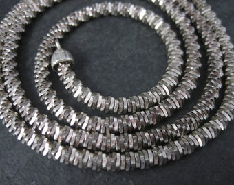 Vintage 5mm Italian Sterling Custom Specialty Chain Necklace 28 Inches