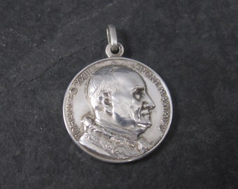 Vintage 800 Silver Iohannes XXIII Pont Maximus Pope John XXIII Medal