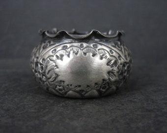 Victorian Sterling Repousse Salt Cellar Bowl