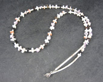 Vintage Southwestern Wampum Shell Necklace 28 Inches