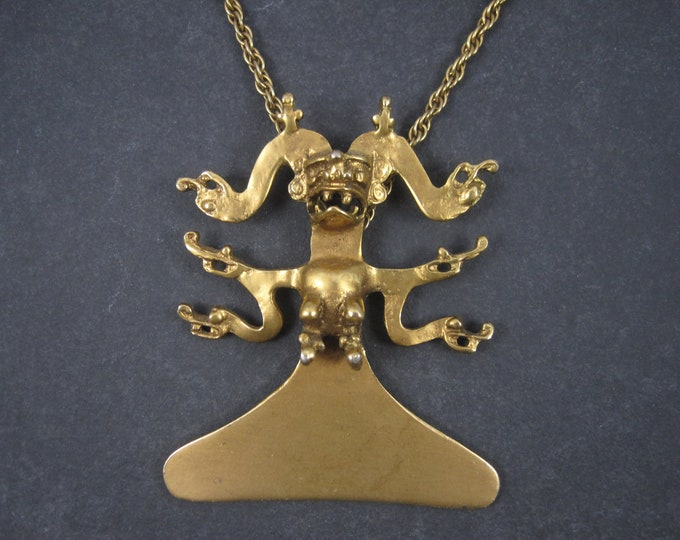 Large Pre Columbian Idol Pendant Necklace Museum Replica