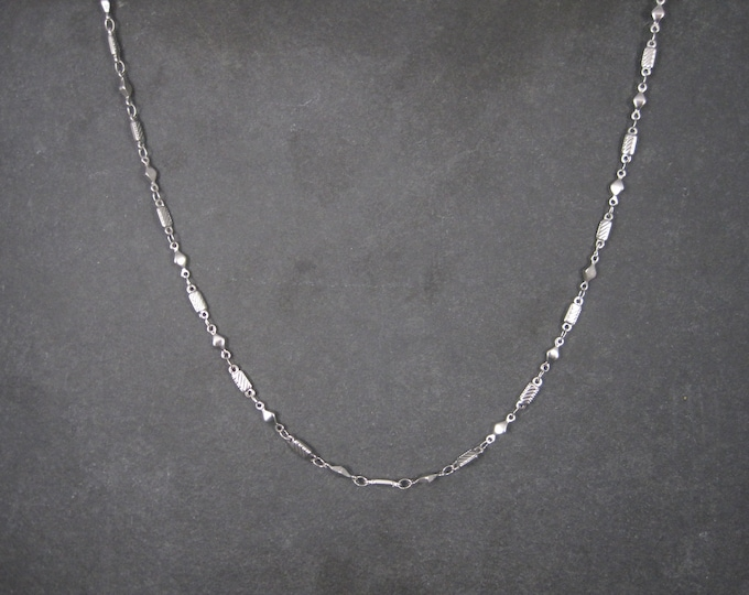 Vintage 3mm 19 Inch Stainless Steel Chain Necklace