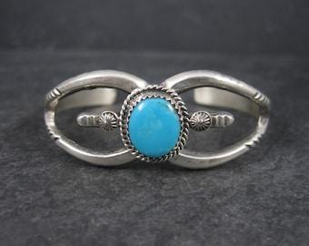 Navajo Turquoise Cuff Bracelet 6 Inches Martha Cayatineto