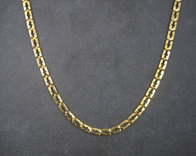 Vintage Cross Chain Necklace 20 Inches Stainless Steel