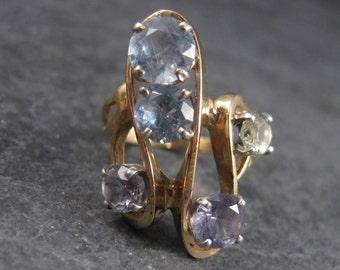 Vintage 14K Color Change Zircon Ring Size 7