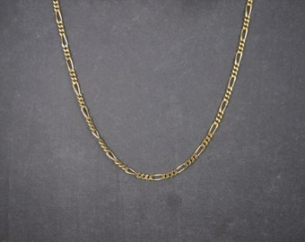 Vintage Sterling Vermeil 4mm Figaro Chain 24 Inches