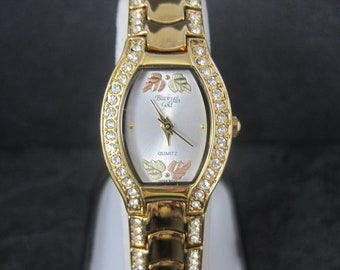 Vintage Ladies 12K Black Hills Gold Watch Old New Stock