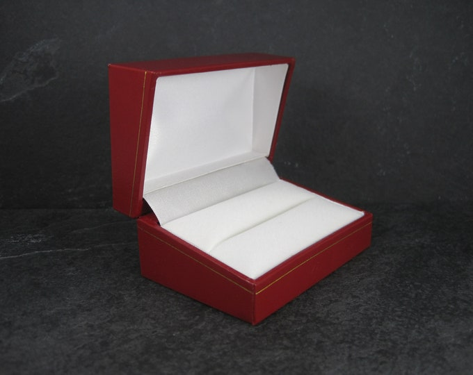 Red Vintage Double Wedding Engagement Ring Box