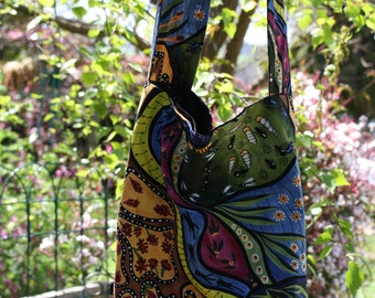 5b80b677f06 Fully lined cross body tote bag, aboriginal design, australian design,  carry bag, christmas gift, birthday gift, australian souvenir,