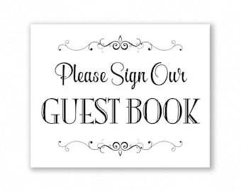 Printable Signs For Weddings & Special Events by
