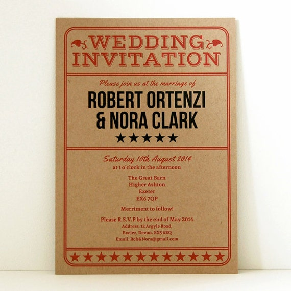 vintage ticket wedding invitation admission ticket etsy