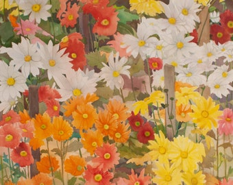 SEPTEMBER FLOWERS Watercolor Painting
