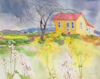 THE COMING STORM Watercolor Painting