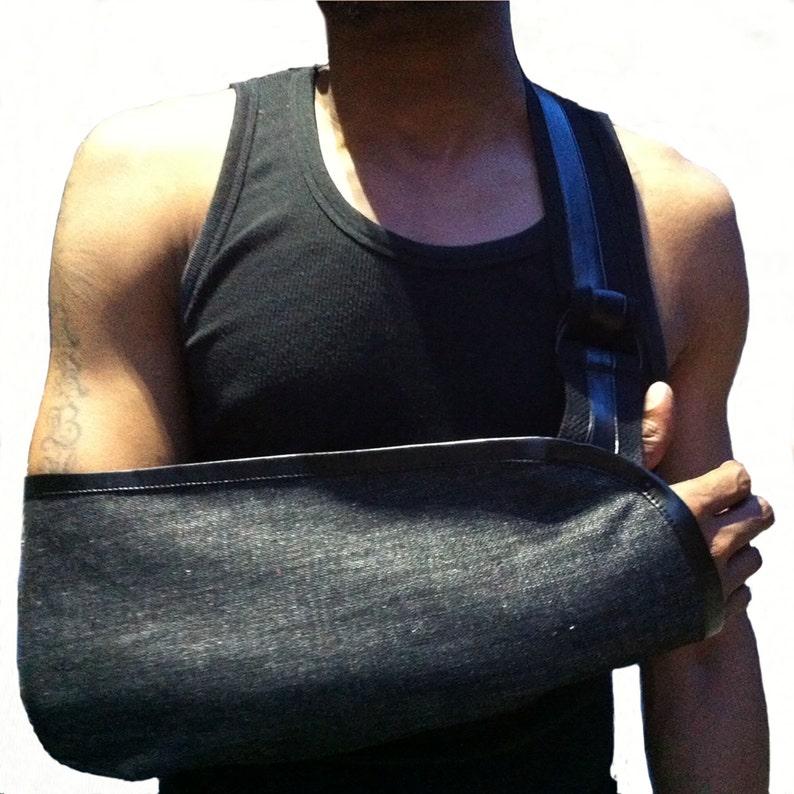 Arm Sling  Durable Denim Designer Arm Sling. image 0
