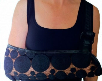 Arm Sling - The New Yorker Black Designer Fashion Arm Sling.