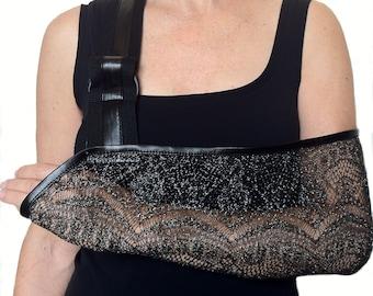 Arm Sling - Silver Shimmer Designer Fashion Arm Sling