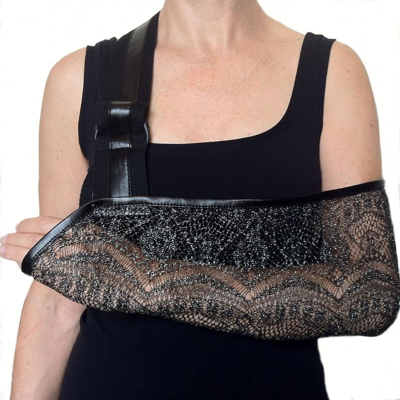 Arm Sling  Silver Shimmer Designer Fashion Arm Sling image 0
