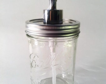 Mason Jar Soap Dispenser  Wide Mouth