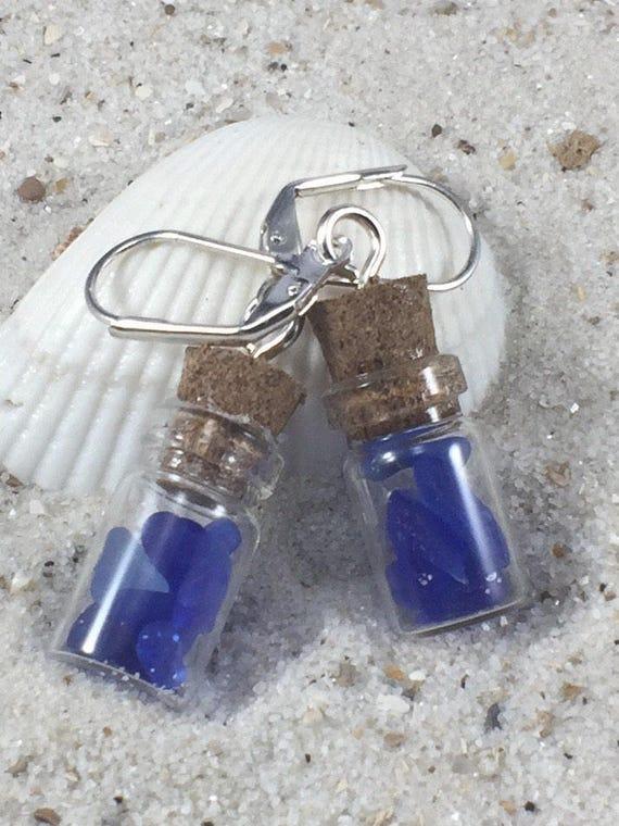 Mer De Bleu En Shdrxqbcot Flacon Cobalt Leaverbacketsy Verre Minuscule 0wOPnk8