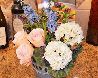 Silk flower arrangement, Flower arrangement, Flower centerpiece