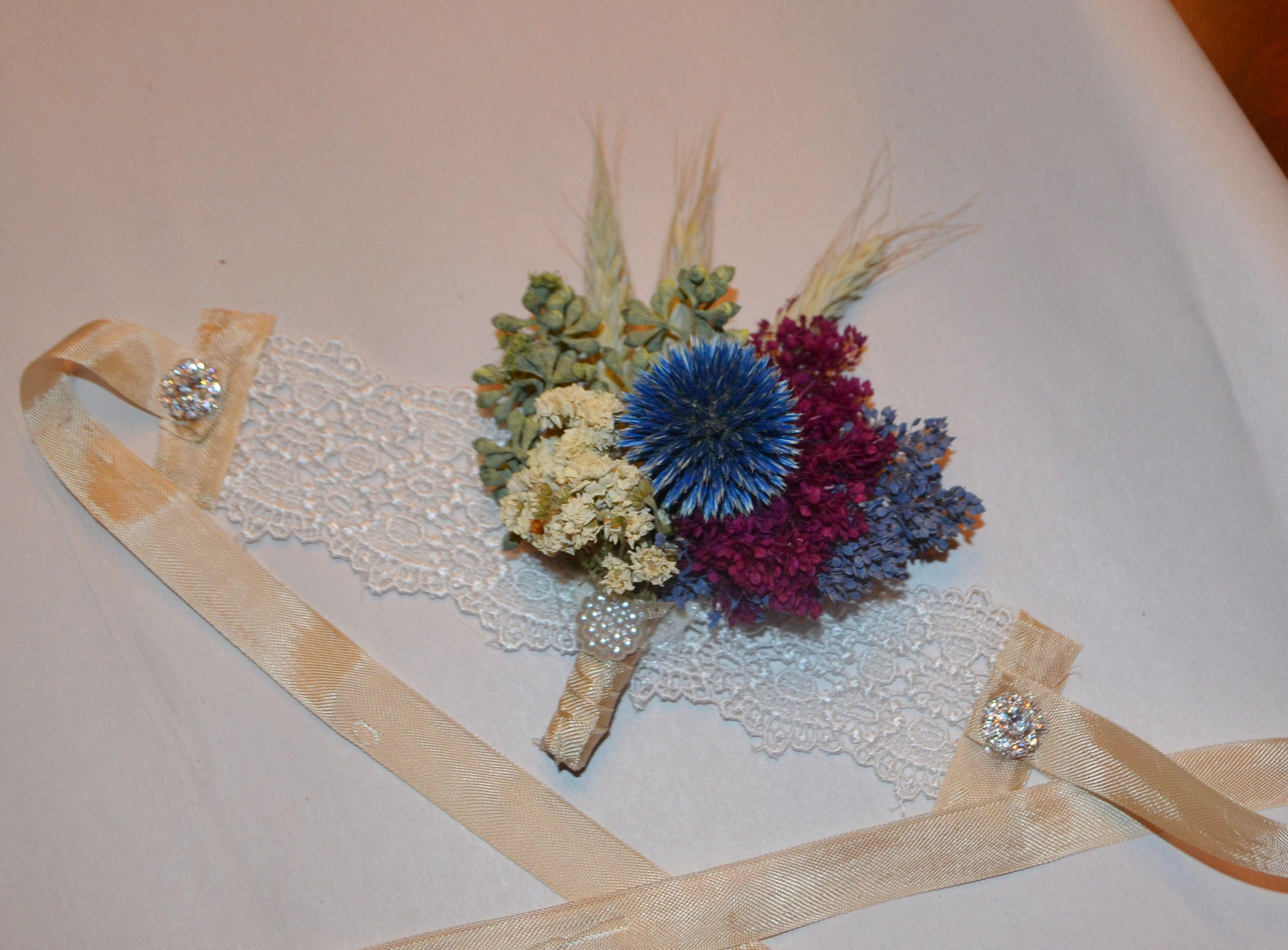 Wedding Corsage Wrist Corsage Burgundy Corsage Blue Etsy