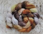 merino nylon, Oak Forest,top,handpainted fiber for spinning