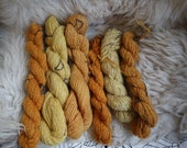 handspun yarn bundle, 6 skeins Art Yarn, Cotswold Fibre Number 7