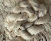 Linen, Soy, Mint, combed top, Ghost,100gr,fiber for spinning and felting, roving, without wool, vegan