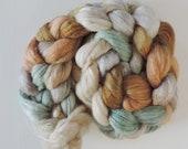 Corriedale,Rosefiber,Millers Mouse, top, handpainted fiber for spinning, 120g