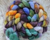 merino nylon,Fairy of the Pond, Sock blend top,handdyed fiber for spinning 160gr
