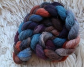 Suffolk Rainbow 315, handpainted top-roving for spinning and felting
