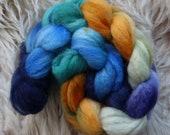 bfl sw nylon,Sea Fairy, Sock blend top,handdyed fiber for spinning, ca.3,5oz