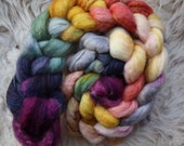 bfl sw nylon,Ice Palace, Sock blend top,handdyed fiber for spinning
