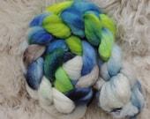 bfl sw nylon,Perlentaucher, Sock blend top,handdyed fiber for spinning, ca.3,5oz
