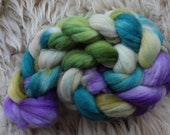 merino nylon,Am Bach, Sock blend top,handdyed fiber for spinning 3,5oz