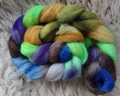 merino nylon,Wilde Insel,top, handpainted fiber for spinning,ca.3,5oz