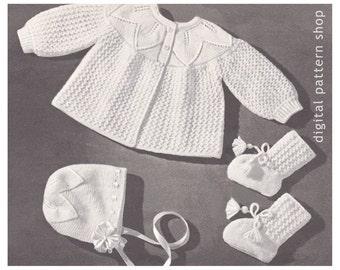 e56b81446317 Crochet Pattern Baby Hoodie Pattern Vintage Hooded Jacket