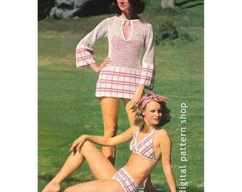 9bbbf69ff6e0c Crochet Bikini Pattern Granny Square Hippie Bikini Crochet