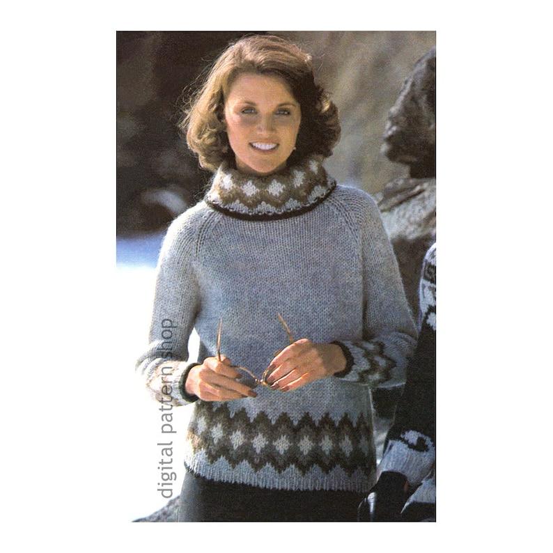 d36d49b75bb1 Knit Sweater Pattern Raglan Turtleneck Sweater Knitting