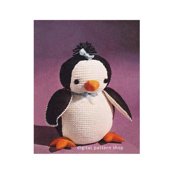 Penguin Stuffed Animal Toy Knitting Patterns Vintage