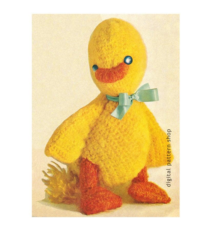Crochet Duck Pattern Stuffed Toy Duck Crochet Pattern Mohair Etsy